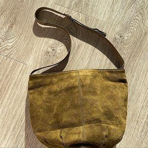 BALLY GREEN SUEDE BAG